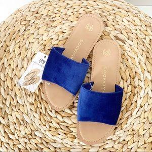 MALVADOS | NWT Icon Taylor Plush Sandals Azure